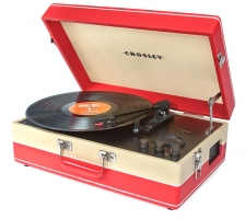 Crosely Echo Portable USB Turntable   Tan/Red