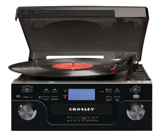 Crosley Tech Turntable With CD Player   Black