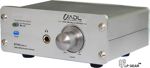 ADL GT40a USB DAC Audio Interface with phono preamp